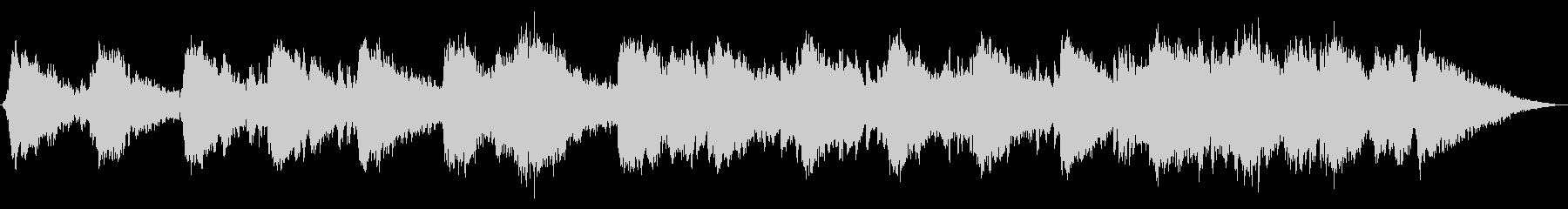 幻想的で少し不思議なシンセサイザー音楽の未再生の波形