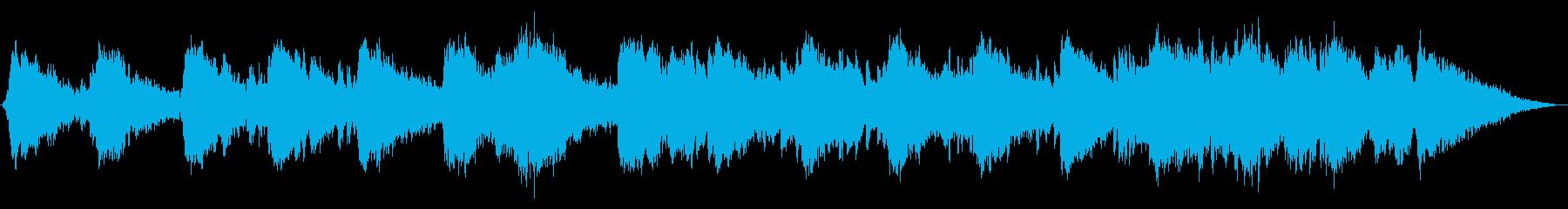 幻想的で少し不思議なシンセサイザー音楽の再生済みの波形