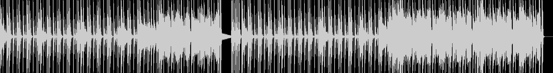 ベースと手拍子が印象的、アクティブな曲の未再生の波形