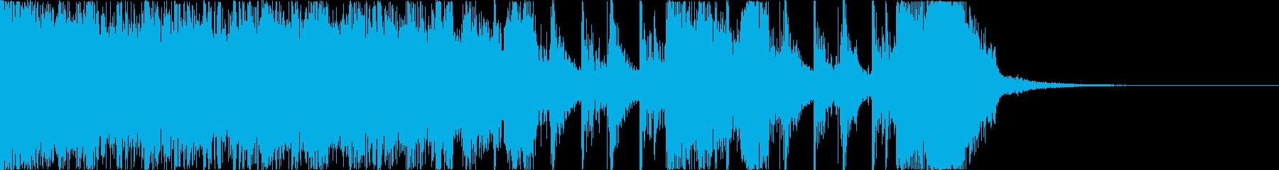 元気の出るロック調イントロの再生済みの波形