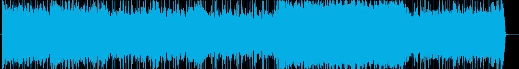 ロック調の疾走感のあるインストの再生済みの波形