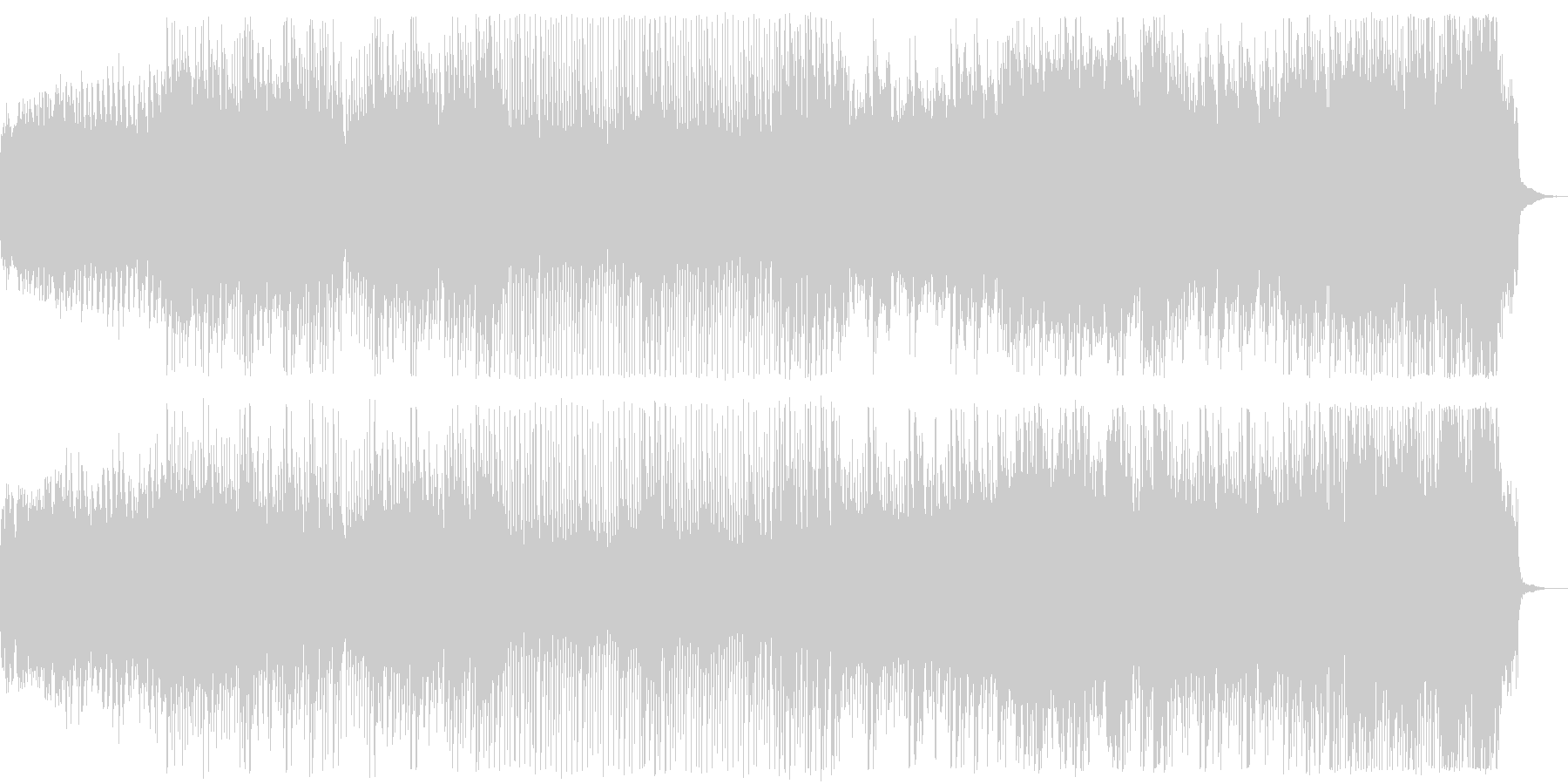 和風テイストの曲の未再生の波形