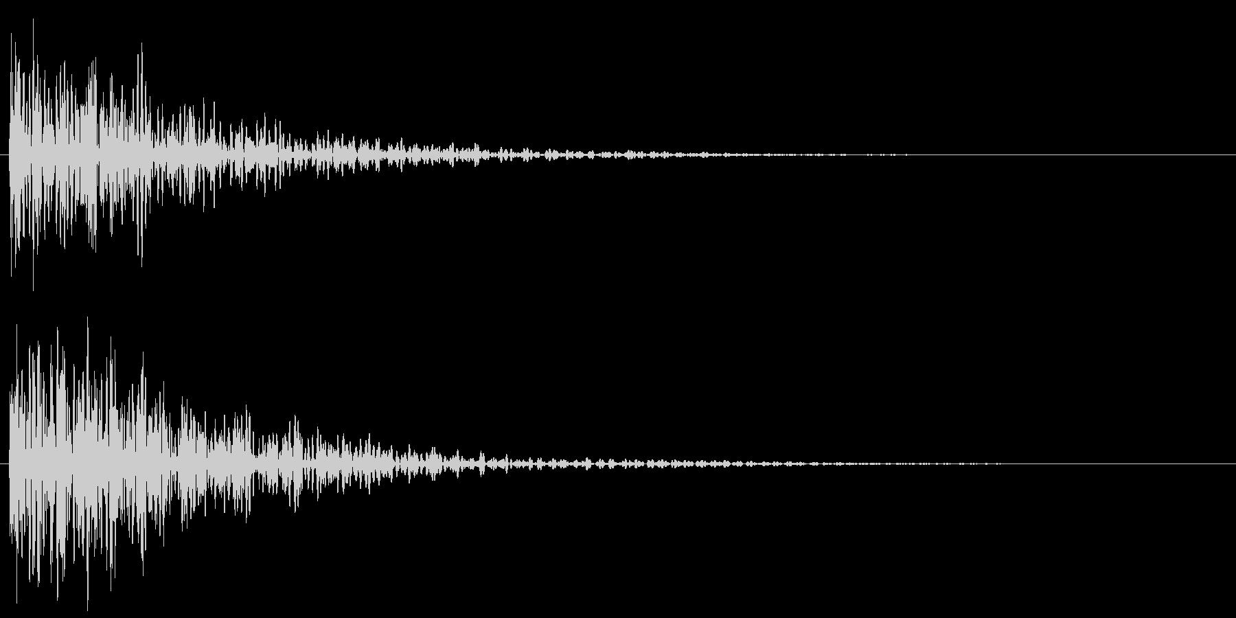 和風アクセント 和太鼓(ドドン!)の未再生の波形