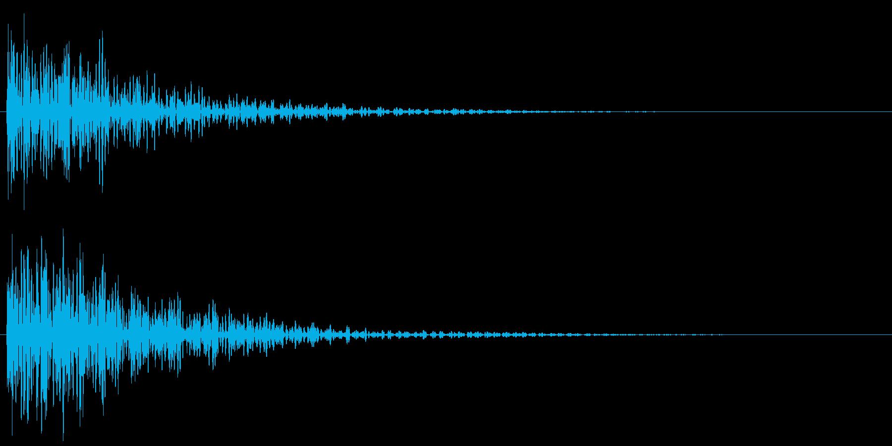 和風アクセント 和太鼓(ドドン!)の再生済みの波形