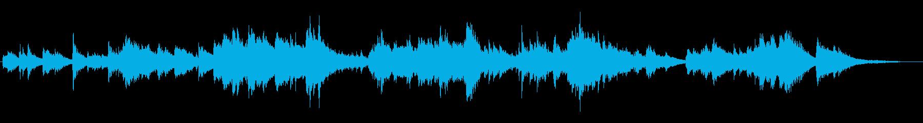 美しい高音と幻想的な雰囲気のピアノ曲の再生済みの波形