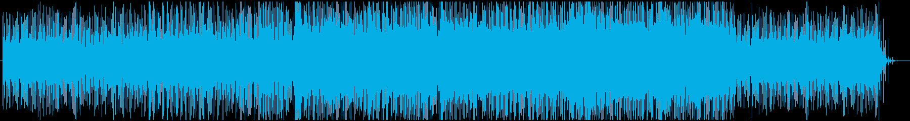 未来感溢れるBGMの再生済みの波形