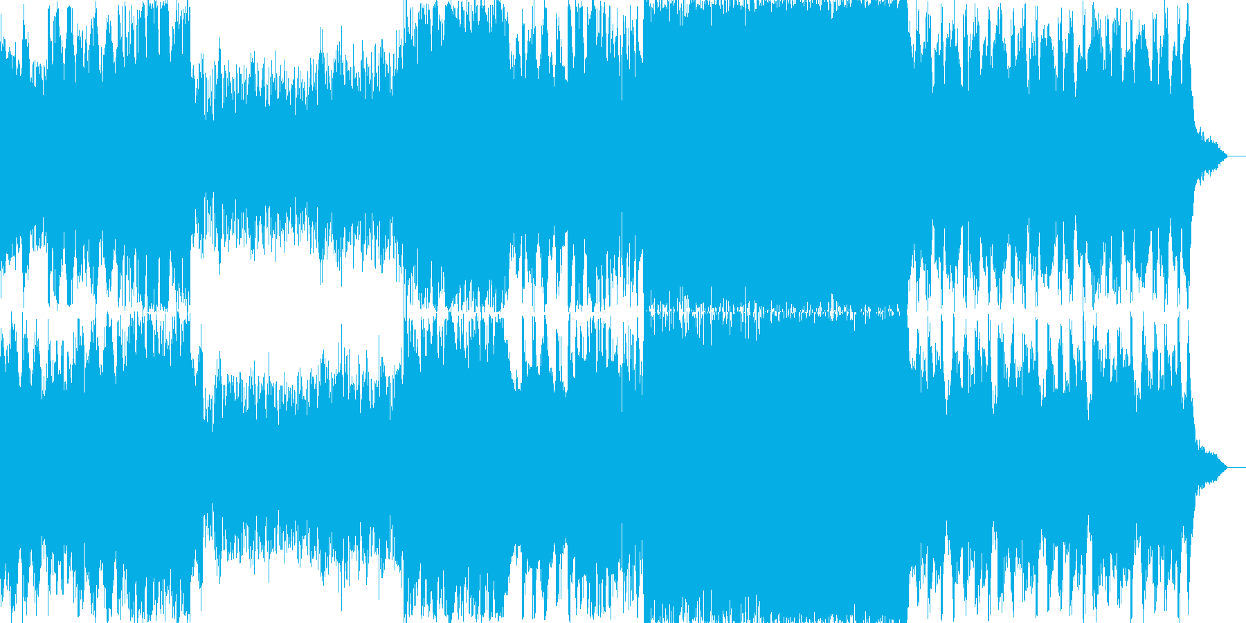 パワフルなミステリアスBGMの再生済みの波形