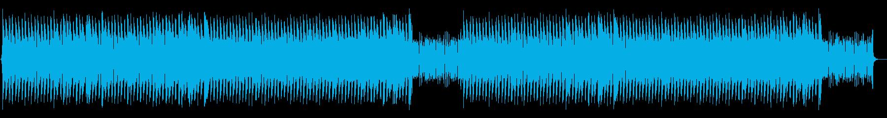 ゴリゴリしたベースのファンキーなハウスの再生済みの波形