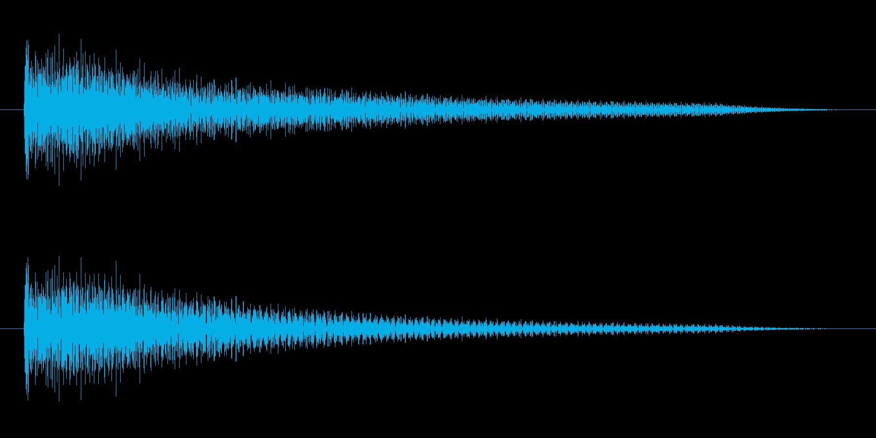 よくあるチャイム音風(オルゴール)の再生済みの波形