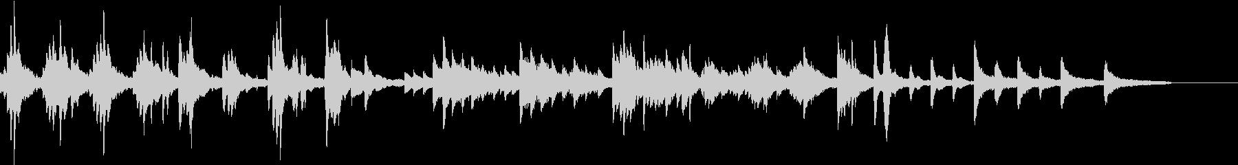ノスタルジックなピアノバラードの未再生の波形