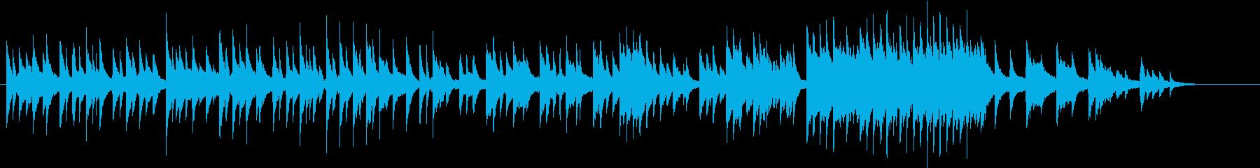 物語の始まりを思わせるピアノ小曲の再生済みの波形