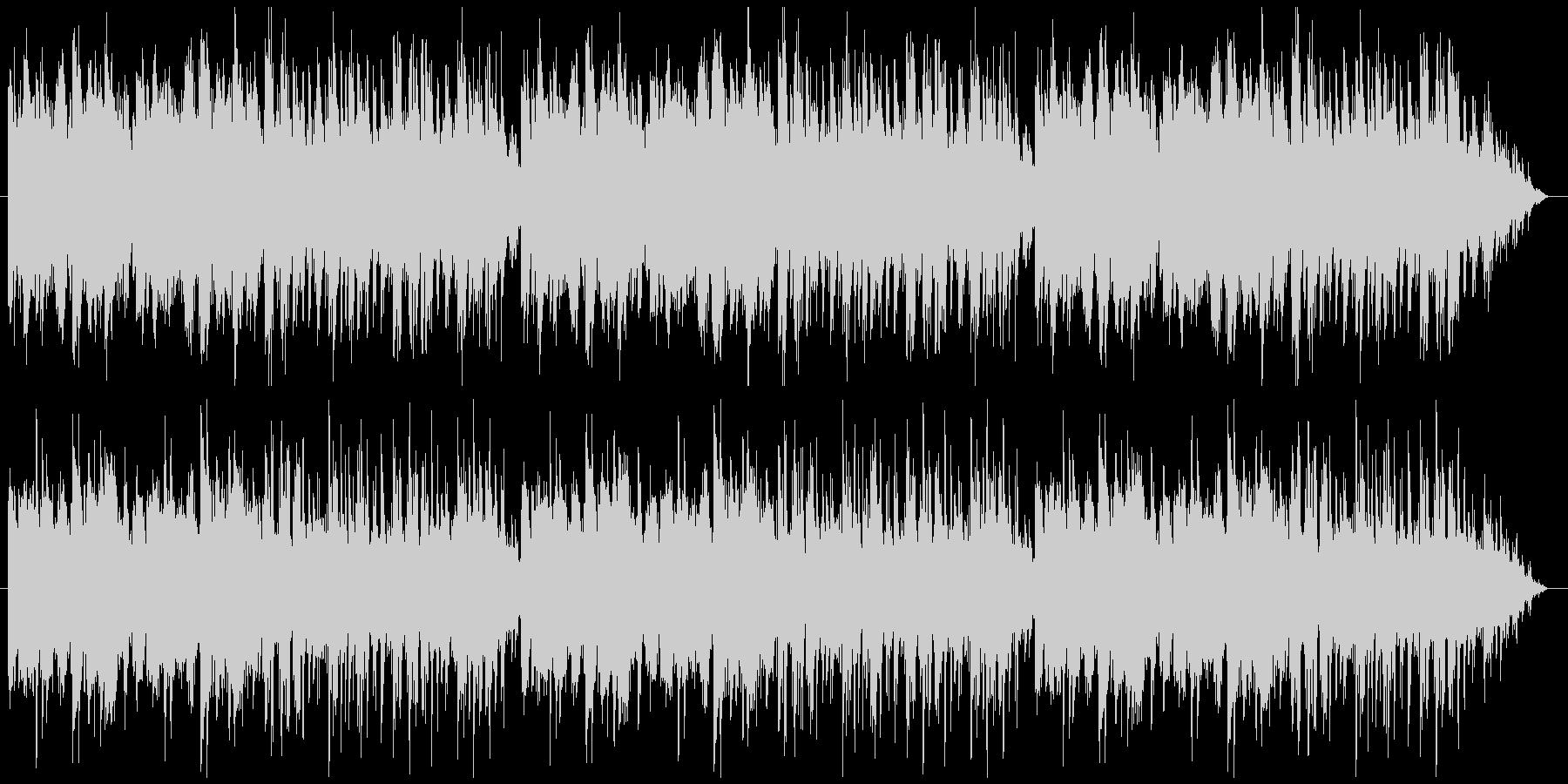 ピアノとフルートがメインの爽やかなBGMの未再生の波形