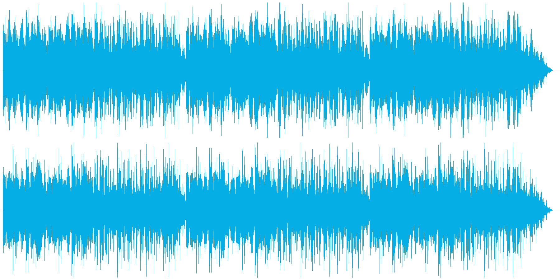ピアノとフルートがメインの爽やかなBGMの再生済みの波形