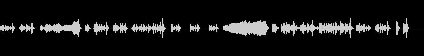 音数の少ないほのぼのしたクラリネット曲の未再生の波形