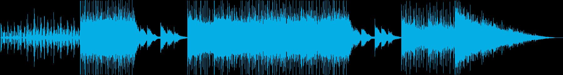 何かが起こりそうな未来的なエレクトロニカの再生済みの波形