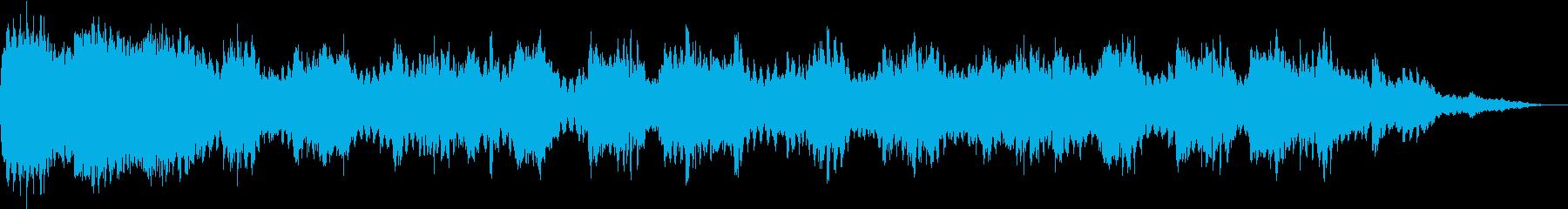 就寝前の優しい瞑想音楽の再生済みの波形