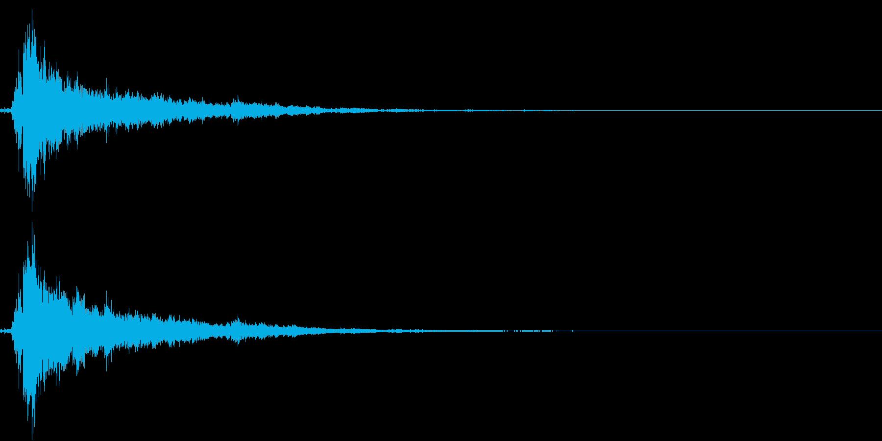 「シャン〜〜」象徴的な鈴の音1+リバーブの再生済みの波形