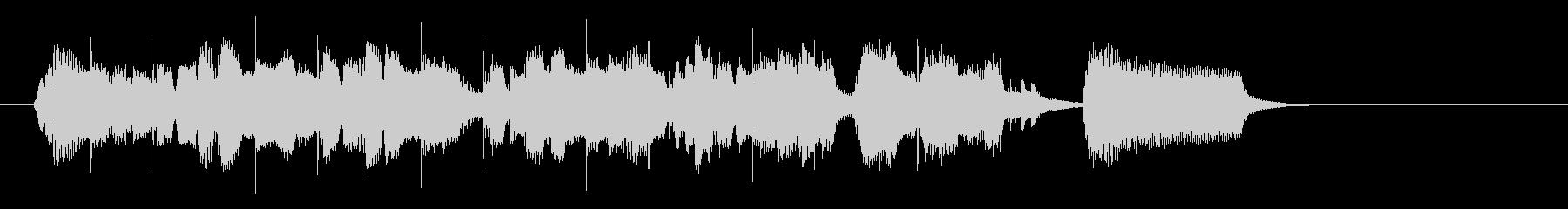 軽快なボサノバジングルの未再生の波形