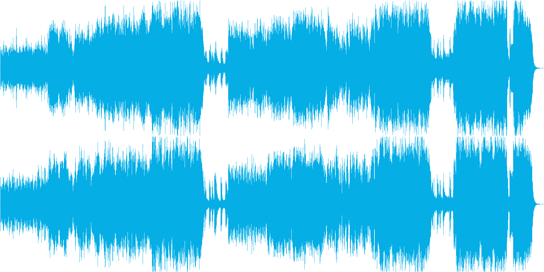 透明感と優しさのある感動系フルートの再生済みの波形
