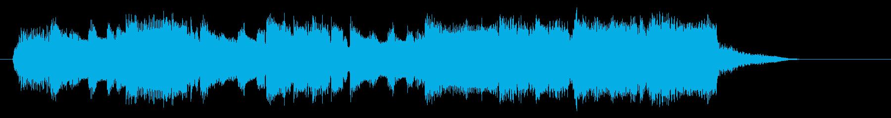 明るくキラキラしたゆっくりな曲の再生済みの波形