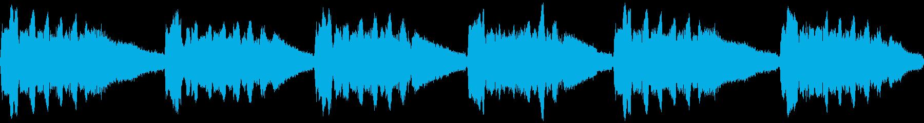 ミンミンゼミの鳴き声(近距離、一匹のみ)の再生済みの波形