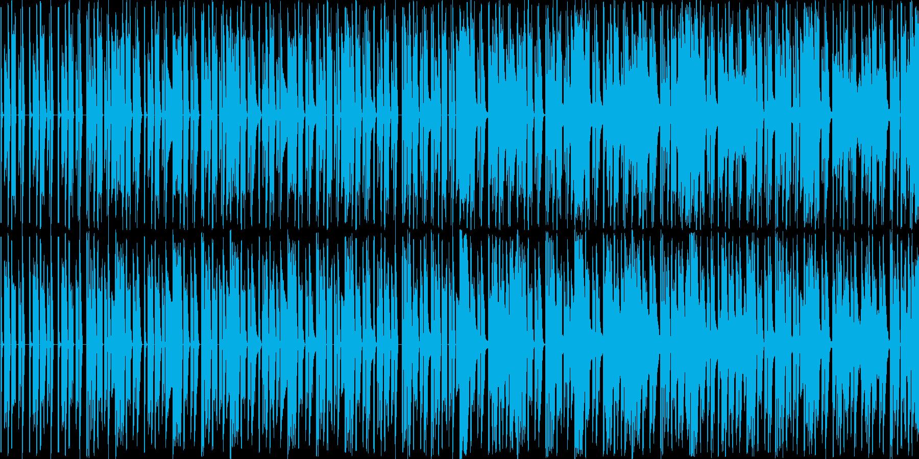 シンセ音とパーカッションだけの曲です。…の再生済みの波形