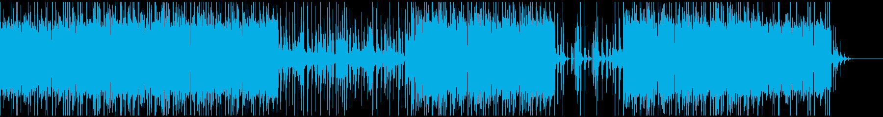 ギターとシンセを使った軽いエレクトロニカの再生済みの波形