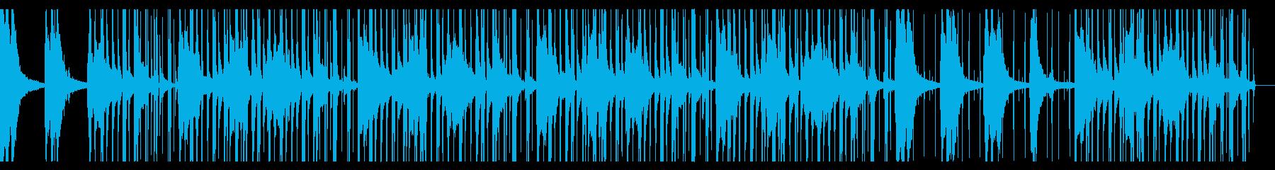ローファイヒップホップ ウッドベースの再生済みの波形