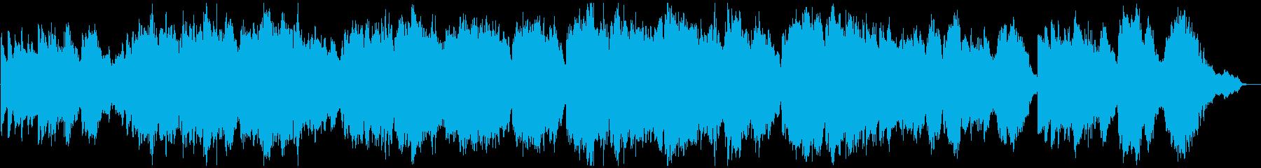 キラキラしたオルゴール風のヒーリング楽曲の再生済みの波形