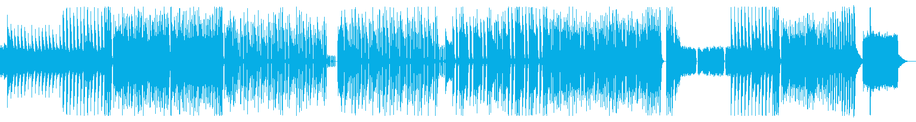 軽快なリズムと可愛らしいテクノサウンドの再生済みの波形