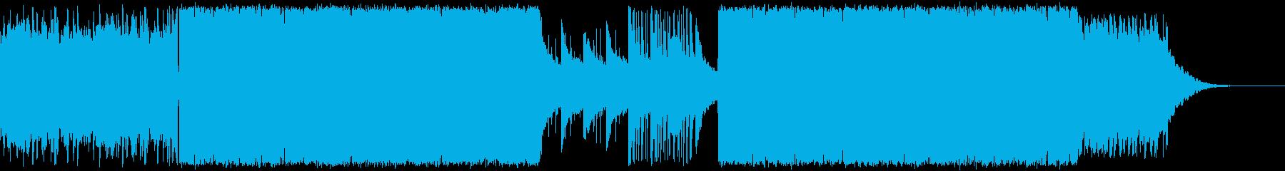 美しい旋律のドラムンベース、アートコアの再生済みの波形