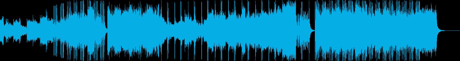 厳かに盛り上がるオーケストラの再生済みの波形
