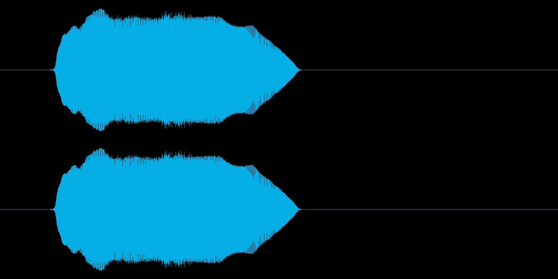 (猫の鳴き声2)の再生済みの波形