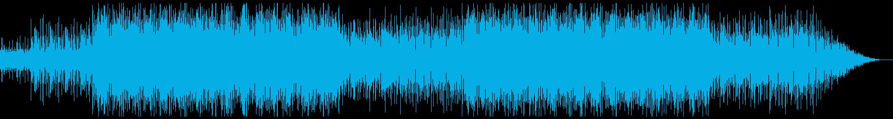 FPS・パズルゲーム風BGM(ループ可)の再生済みの波形