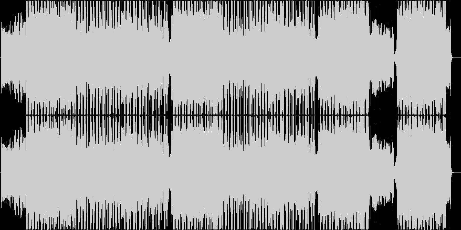 ロック ヒップホップトラックの未再生の波形
