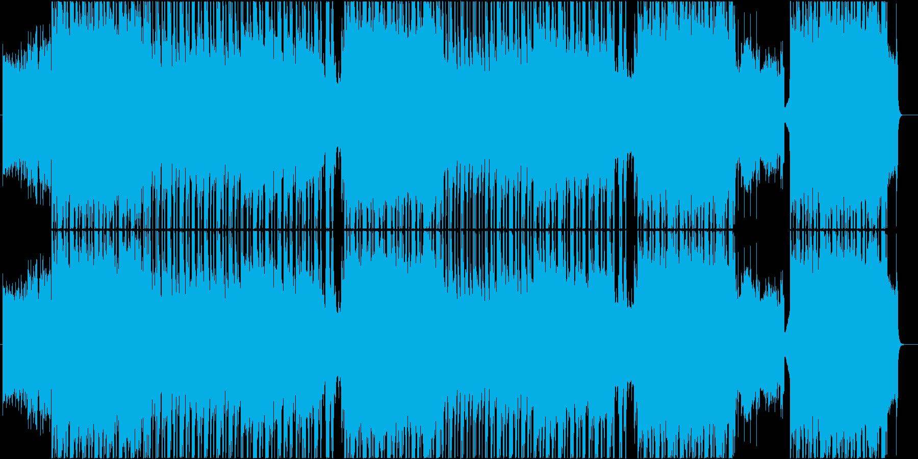 ロック ヒップホップトラックの再生済みの波形