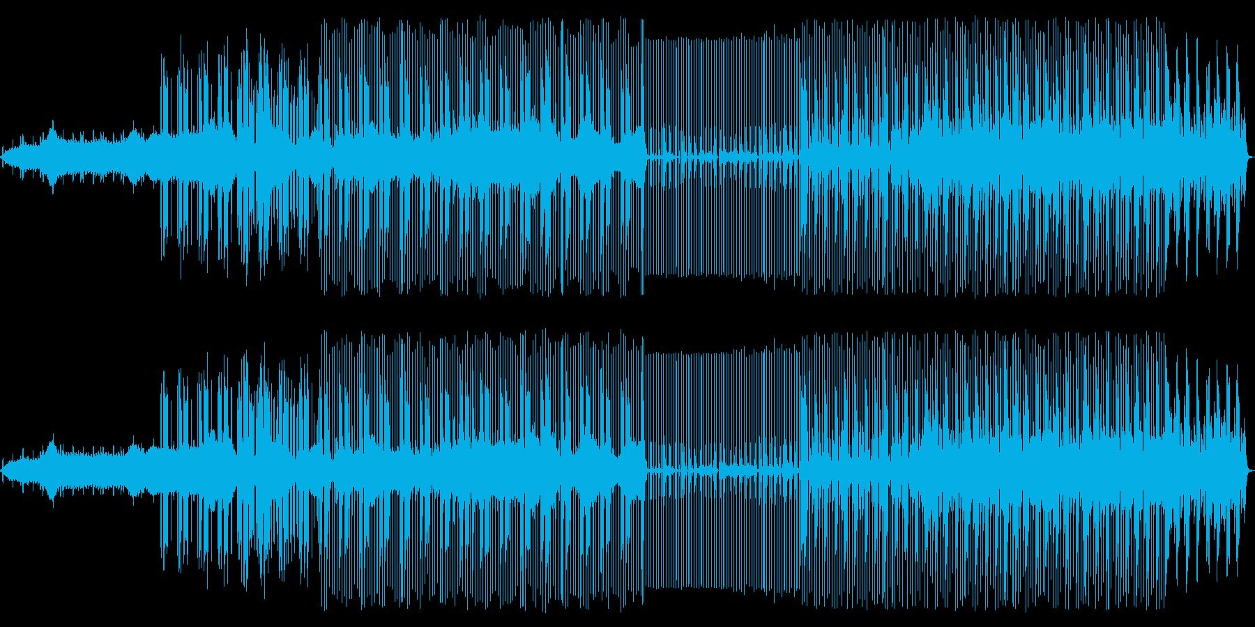 静かなテクノですの再生済みの波形