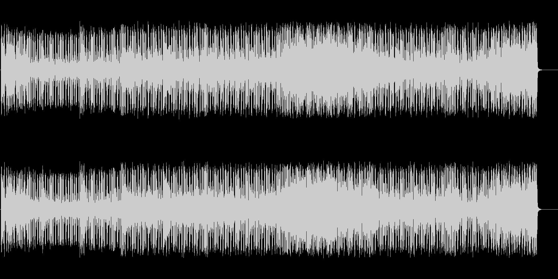 グルービーなテクノBGMの未再生の波形