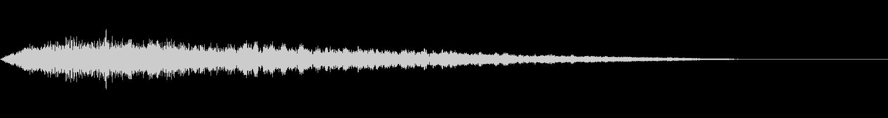 ミステリアスな声の効果音の未再生の波形