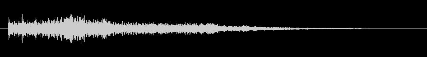 ワンポイント効果音の未再生の波形