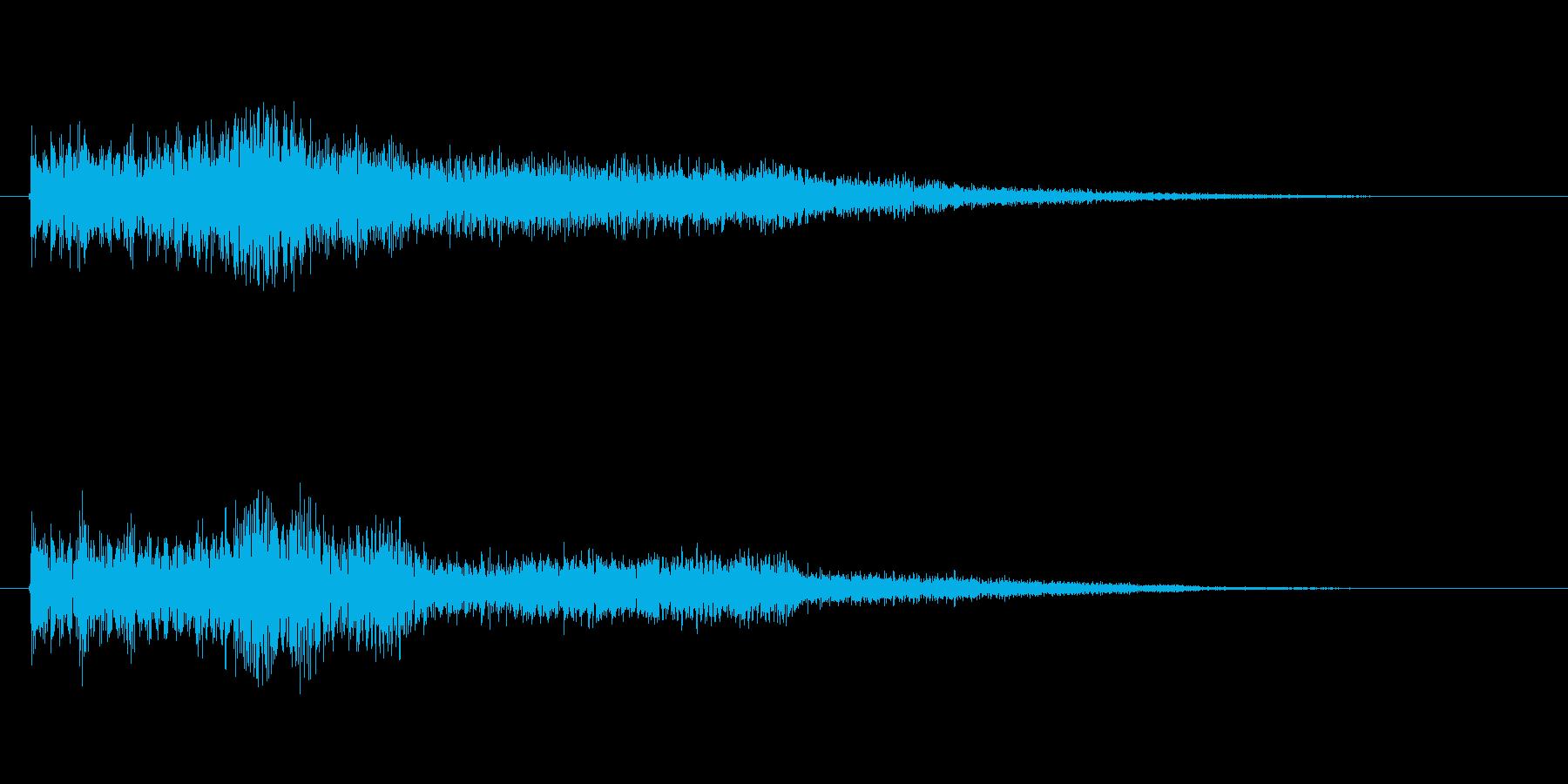 ワンポイント効果音の再生済みの波形