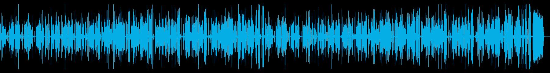 ほのぼのベースの再生済みの波形