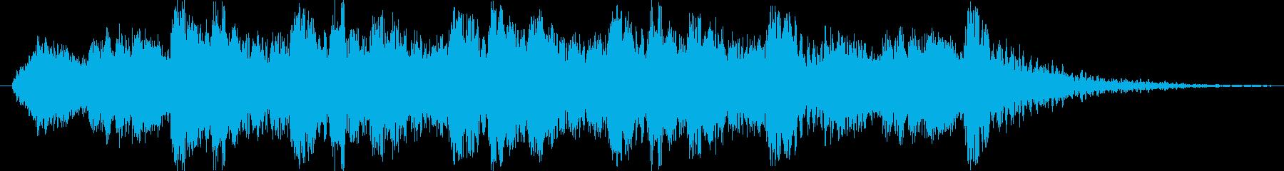 フルオーケストラの激しく壮大なロゴの再生済みの波形