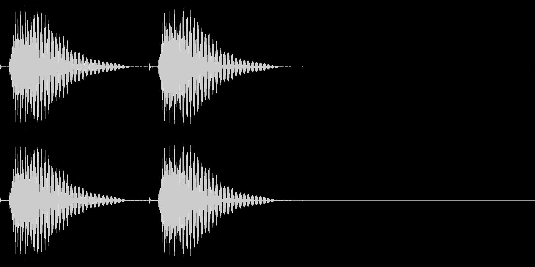 サイレンシングシングルガンショット、X3の未再生の波形