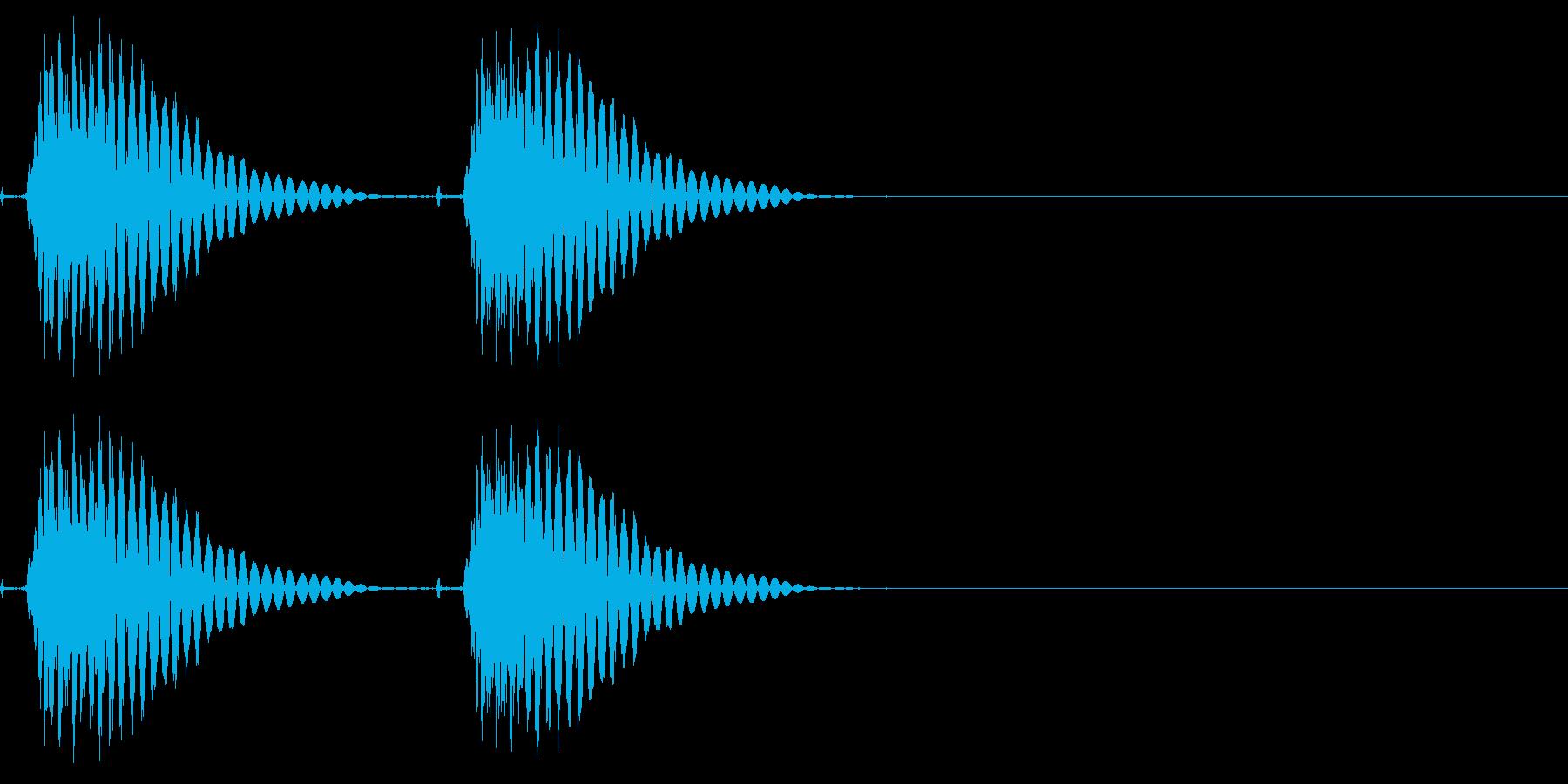 サイレンシングシングルガンショット、X3の再生済みの波形