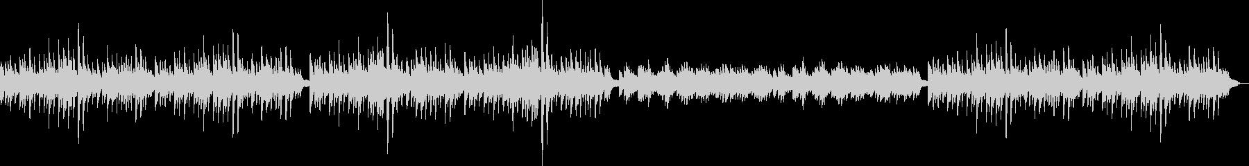 静かで可愛らしい音色のリラクゼーションの未再生の波形