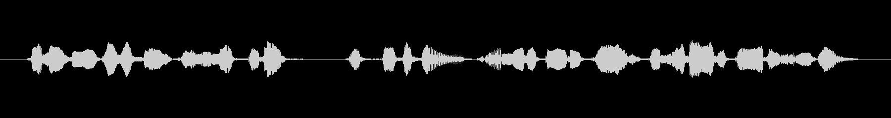 グッドボタンやチャンネル登録の未再生の波形