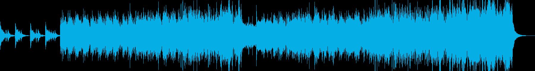 素朴な中華風BGMの再生済みの波形