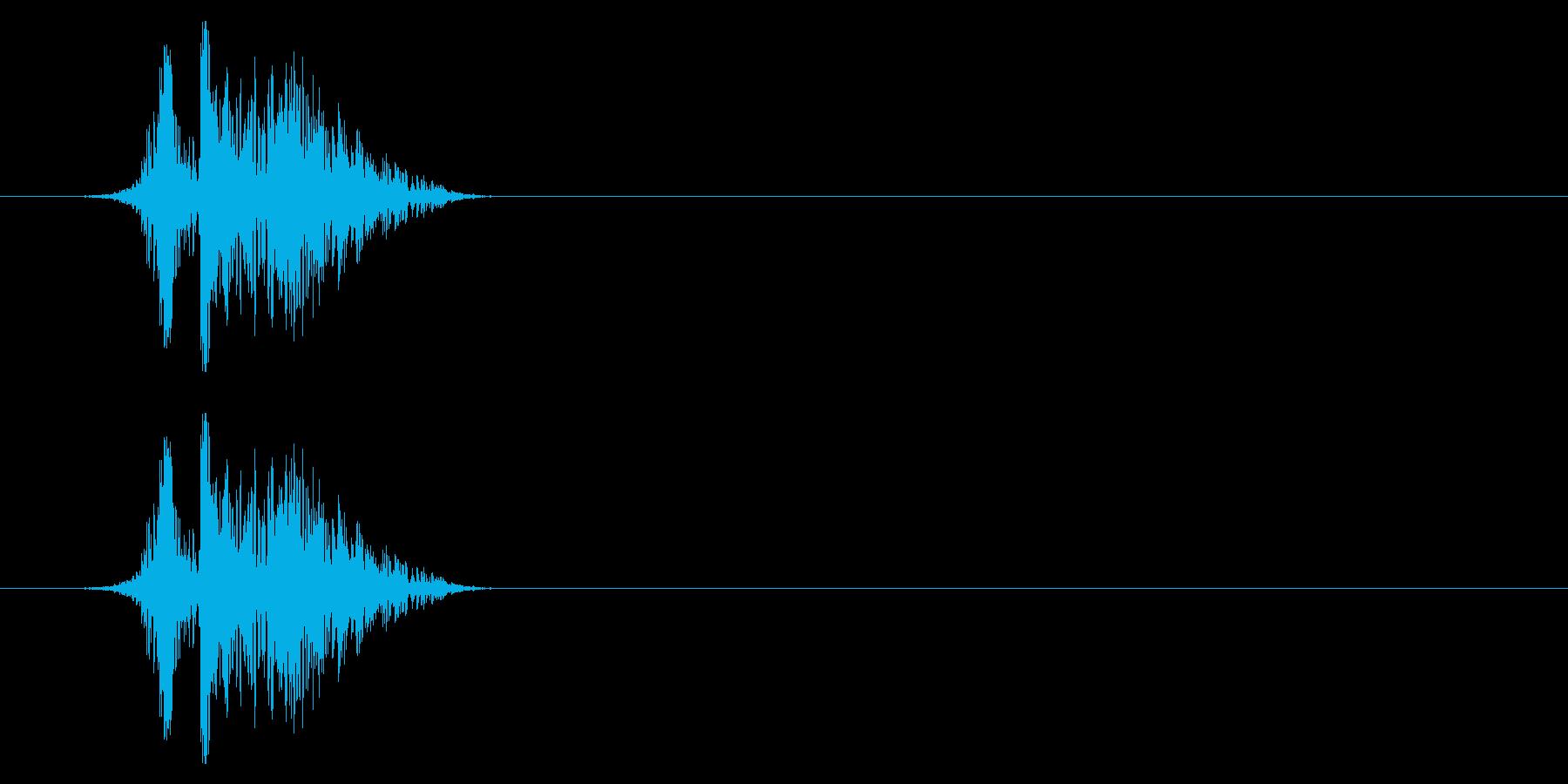 打撃09-3の再生済みの波形