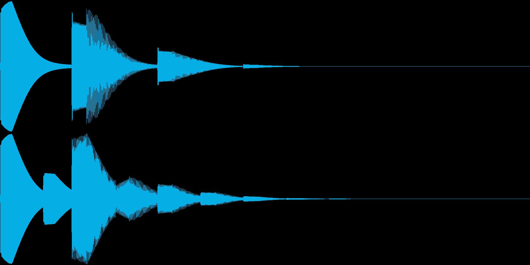 呼び出しのチャイム ピンポンの再生済みの波形